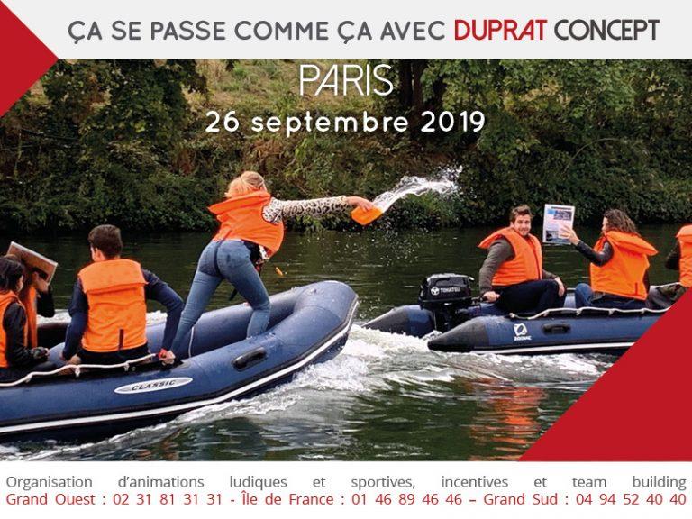 Les Experts de la Seine en pleine enquête ! Un programme incentive à Paris avec Duprat Concept