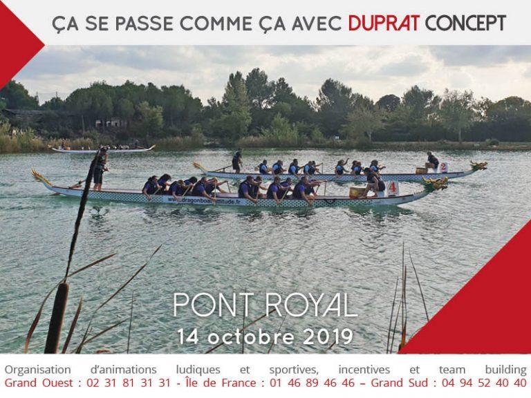 Team building sur le Lac du domaine de Pont Royal avec Duprat Concept
