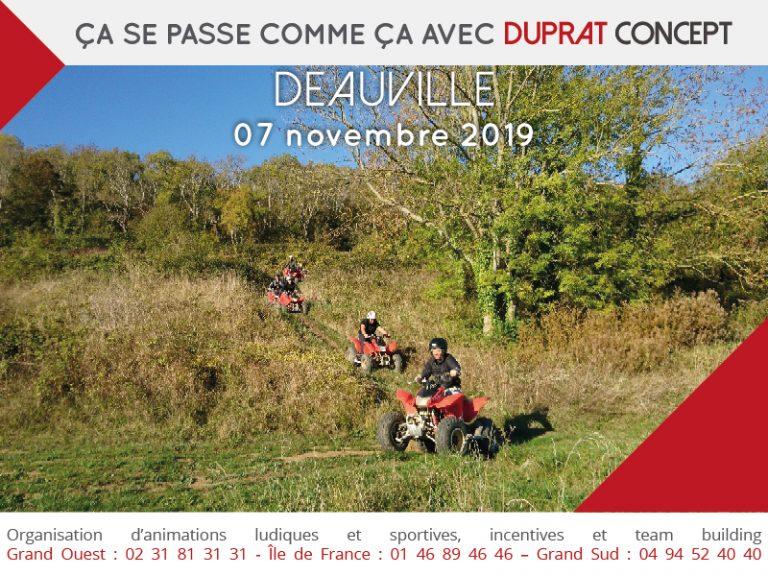Randonnée Quad dans le domaine forestier de Saint-Arnoult près de Deauville avec Duprat Concept