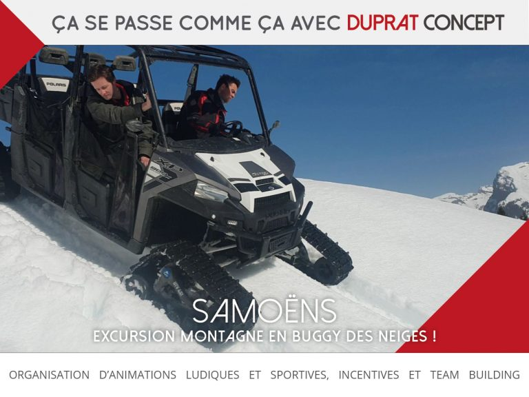 Excursion buggy des neiges à Samoëns avec Duprat Concept