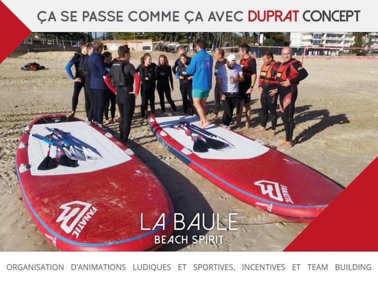 Beach Spirit une programme team building à La Baule avec Duprat Concept