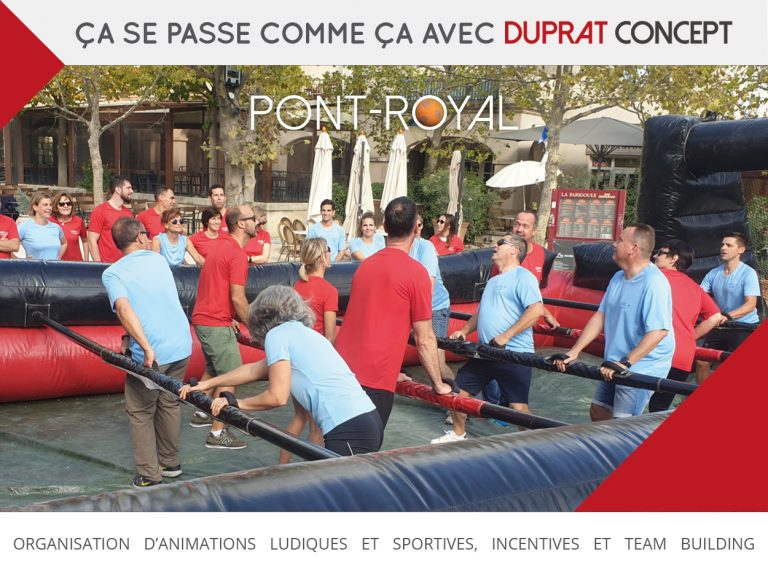 Euro Football Cup, team building à Pont Royal avec Duprat Concept